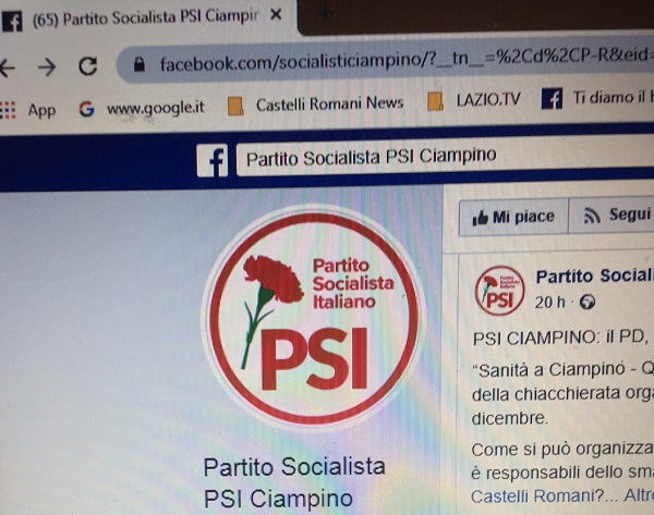 IL PSI DI CIAMPINO CONTRO LA DEMAGOGIA DEL PD