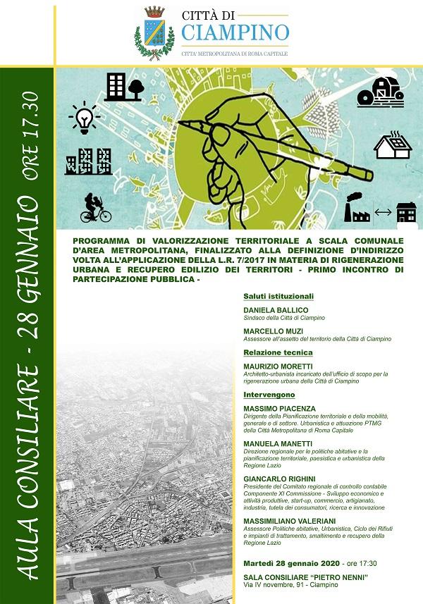 Ciampino. Rigenerazione urbana – 28 gennaio 2020