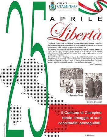 CIAMPINO. CELEBRAZIONE DEL 25 APRILE 2020